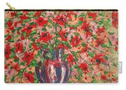 Red And Pink Poppies. Carry-all Pouch