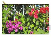 Red And Purple Flowers Carry-all Pouch