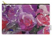 Red And Violet Roses Carry-all Pouch