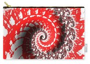 Red And White Fractal Carry-all Pouch