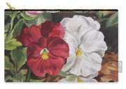 Red And White Pansies Carry-all Pouch