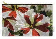 Red And White Petunia Carry-all Pouch