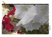 Red And White Petunias Carry-all Pouch
