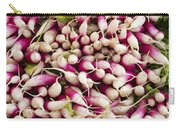 Red And White Radishes Carry-all Pouch by John Trax