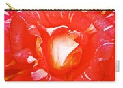 Red And White Rose In Puerto Varas-chile Carry-all Pouch