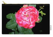 Red And White Rose In Rain Carry-all Pouch