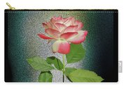 Red And White Rose5 Cutout Carry-all Pouch