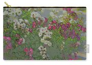Red And White Roses  Medium Toned Abstract Carry-all Pouch