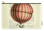 Red And White Striped Hot Air Balloon Antique Photo Carry-all Pouch