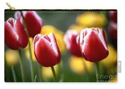 Red And White Tulips Large Canvas Art, Canvas Print, Large Art, Large Wall Decor, Home Decor Carry-all Pouch