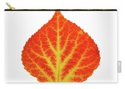 Red And Yellow Aspen Leaf 10 Carry-all Pouch