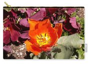 Red And Yellow Flower Carry-all Pouch