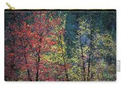 Red And Yellow Leaves Abstract Horizontal Number 1 Carry-all Pouch