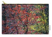 Red And Yellow Leaves Abstract Vertical Number 1 Carry-all Pouch