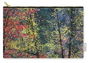 Red And Yellow Leaves Abstract Vertical Number 2 Carry-all Pouch