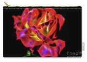 Red And Yellow Rose Fractal Carry-all Pouch
