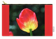 Red And Yellow Tulip - Photopainting Carry-all Pouch