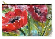 Red Anemone Flowers Carry-all Pouch