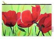Red Anemonies Carry-all Pouch