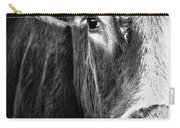 Red Angus In Black And White  Carry-all Pouch