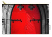Red Arched Door Carry-all Pouch