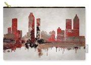 Red Atlanta Georgia Skyline Carry-all Pouch