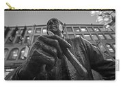Red Auerbach Chilling At Fanueil Hall Black And White Carry-all Pouch