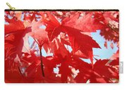 Red Autumn Leaves Art Prints Canvas Fall Leaves Baslee Troutman Carry-all Pouch
