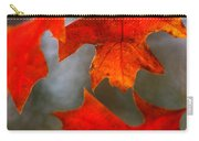 Red Autumn Leaves Carry-all Pouch
