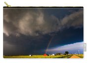Red Barn And Rainbow Carry-all Pouch