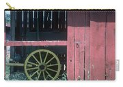 Red Barn And Wagon Wheel Carry-all Pouch