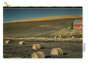 Red Barn At Haying Time Carry-all Pouch