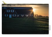 Red Barn At Sunset Carry-all Pouch