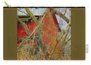 Red Barn Behind The Trees Carry-all Pouch