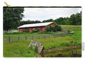 Red Barn By The Lake Carry-all Pouch