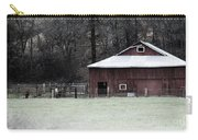 Red Barn On The Drive Carry-all Pouch