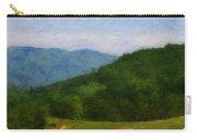 Red Barn On The Mountain Carry-all Pouch by Teresa Mucha