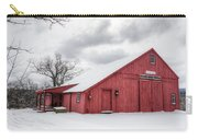Red Barn On Wintry Day Carry-all Pouch