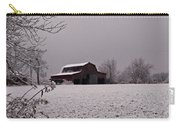 Red Barn Under Snow Carry-all Pouch