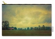 Red Barn Under Stormy Skies Carry-all Pouch