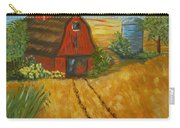 Red Barn- Wheat Field- Down Home Carry-all Pouch