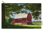Red Barn With White Arched Door Trim Carry-all Pouch