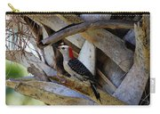 Red-bellied Woodpecker Hides On A Cabbage Palm Carry-all Pouch