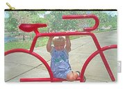 Red Bicycle Carry-all Pouch