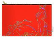 Red Biker Biatch Ps Carry-all Pouch
