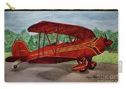 Red Biplane Carry-all Pouch by Megan Cohen
