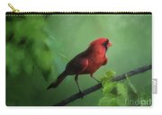 Red Bird On A Hot Day Carry-all Pouch