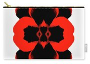 Red Black Botanical Summer Carry-all Pouch