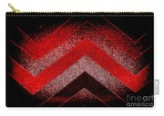 Red Black Chevron Carry-all Pouch