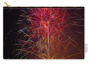 Red Blazing Fireworks Carry-all Pouch
